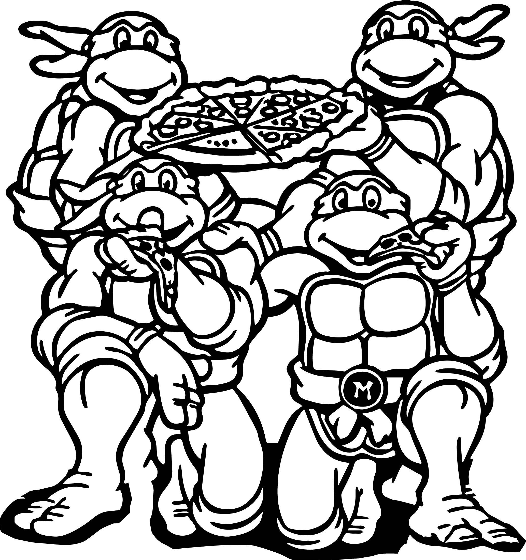 Christmas Coloring Pages Ninja Turtles With Teenage Mutant Archives