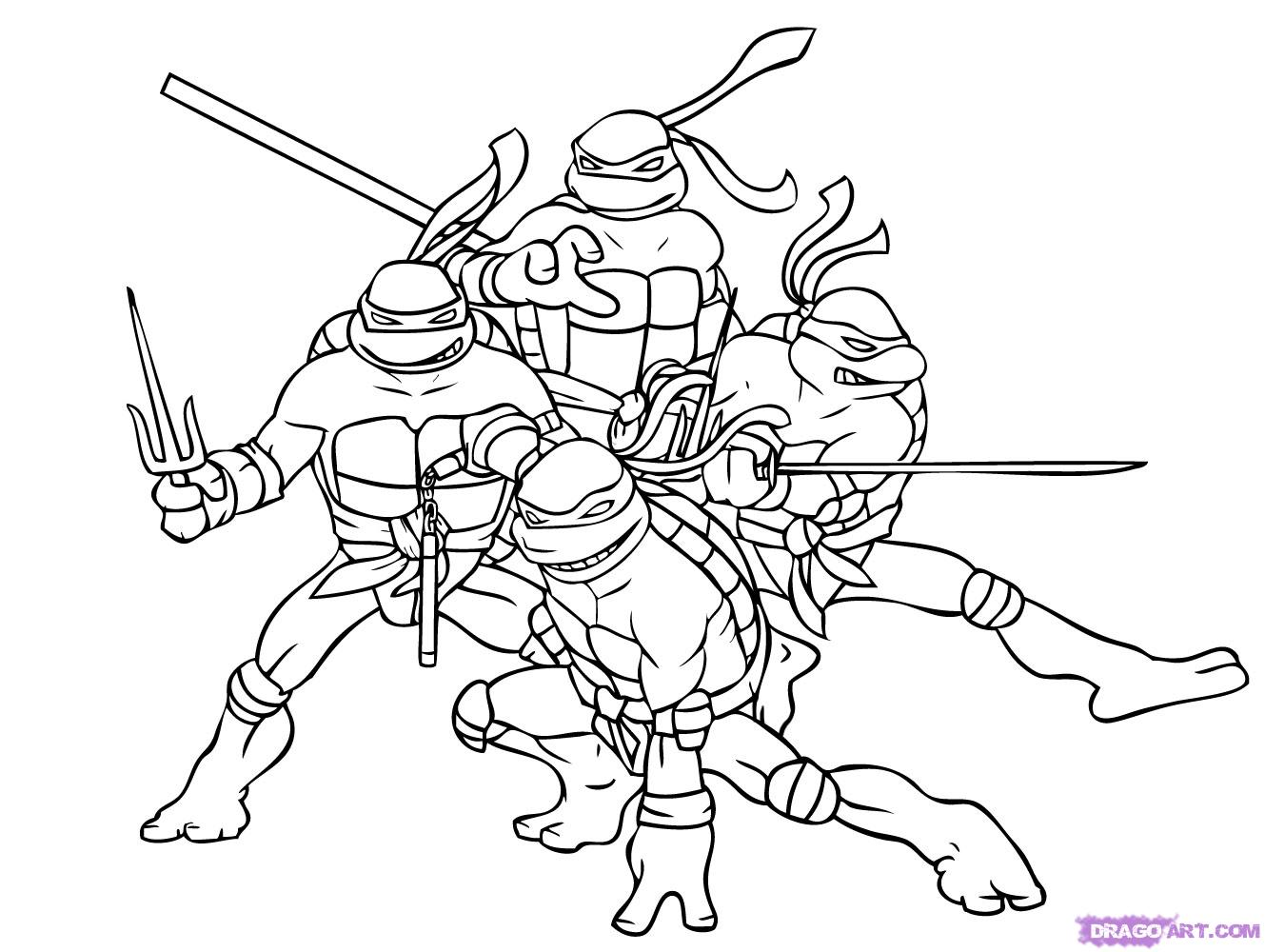 Christmas Coloring Pages Ninja Turtles With Teenage Mutant