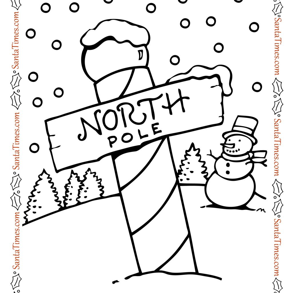 Christmas Coloring Pages North Pole With Page