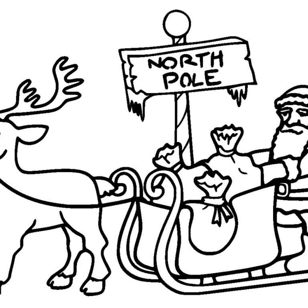 Christmas Coloring Pages North Pole With Printables HubPages