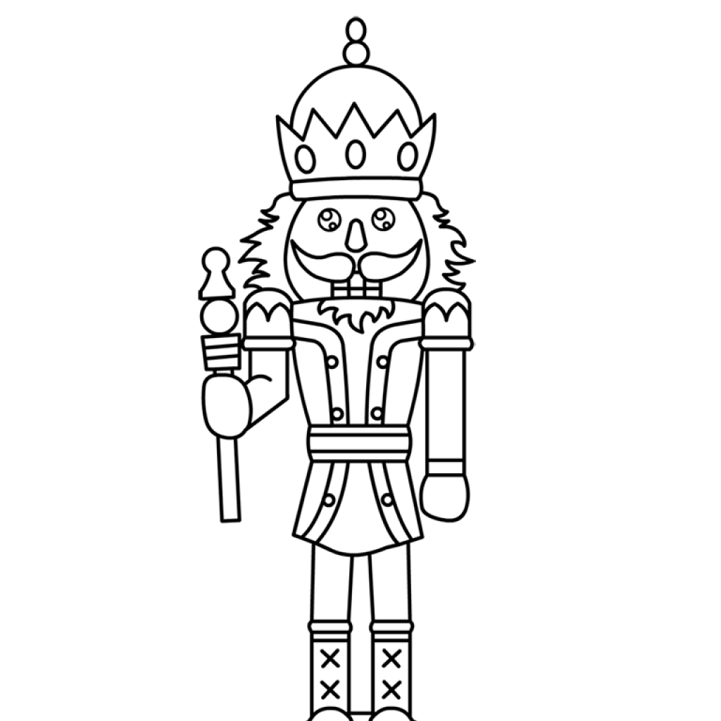 Christmas Coloring Pages Nutcracker With Free Printable For Kids