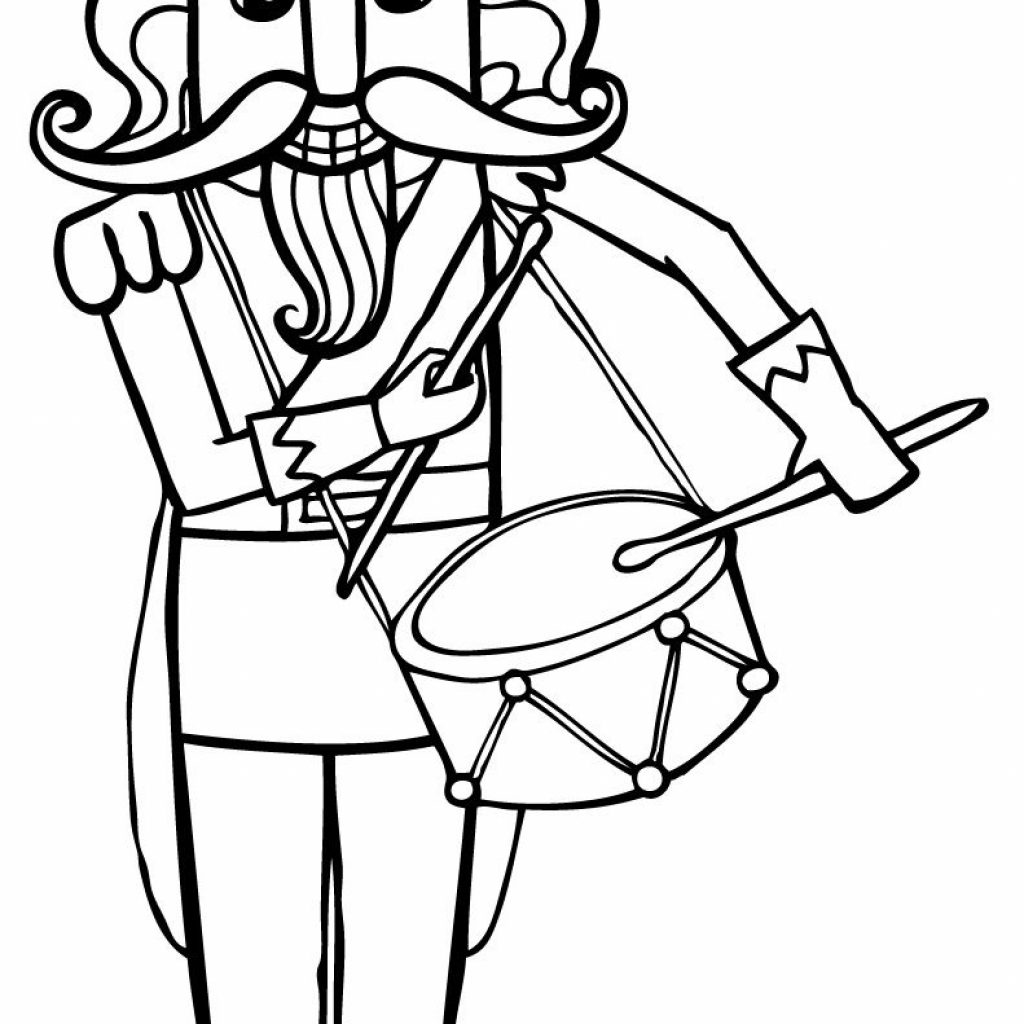 Christmas Coloring Pages Nutcracker With Ideas Pinterest