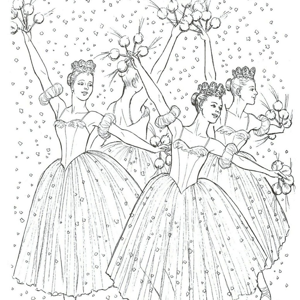 Christmas Coloring Pages Nutcracker With Page Ballet
