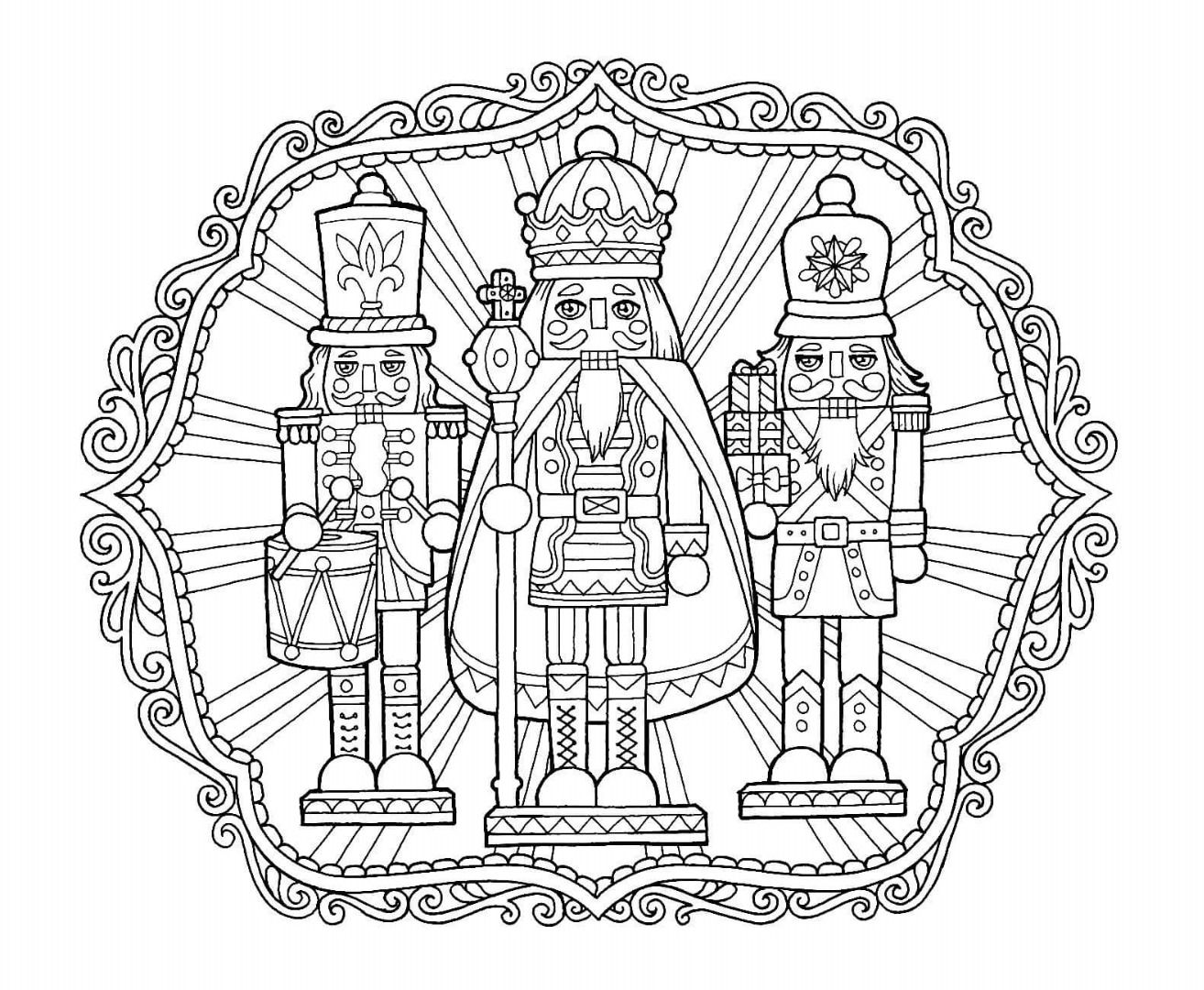 Christmas Coloring Pages Nutcracker With Page Color Pinterest