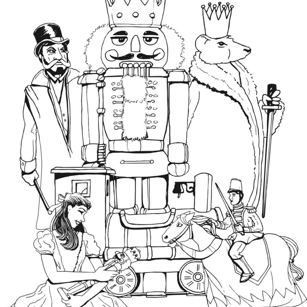 Christmas Coloring Pages Nutcracker With Page Worksheets
