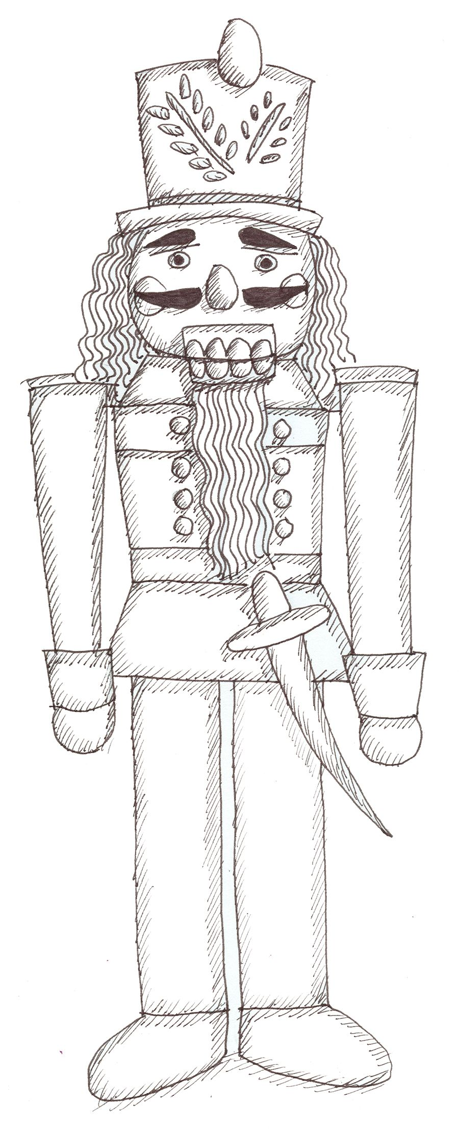 Christmas Coloring Pages Nutcracker With Sheets The Color It In And Put