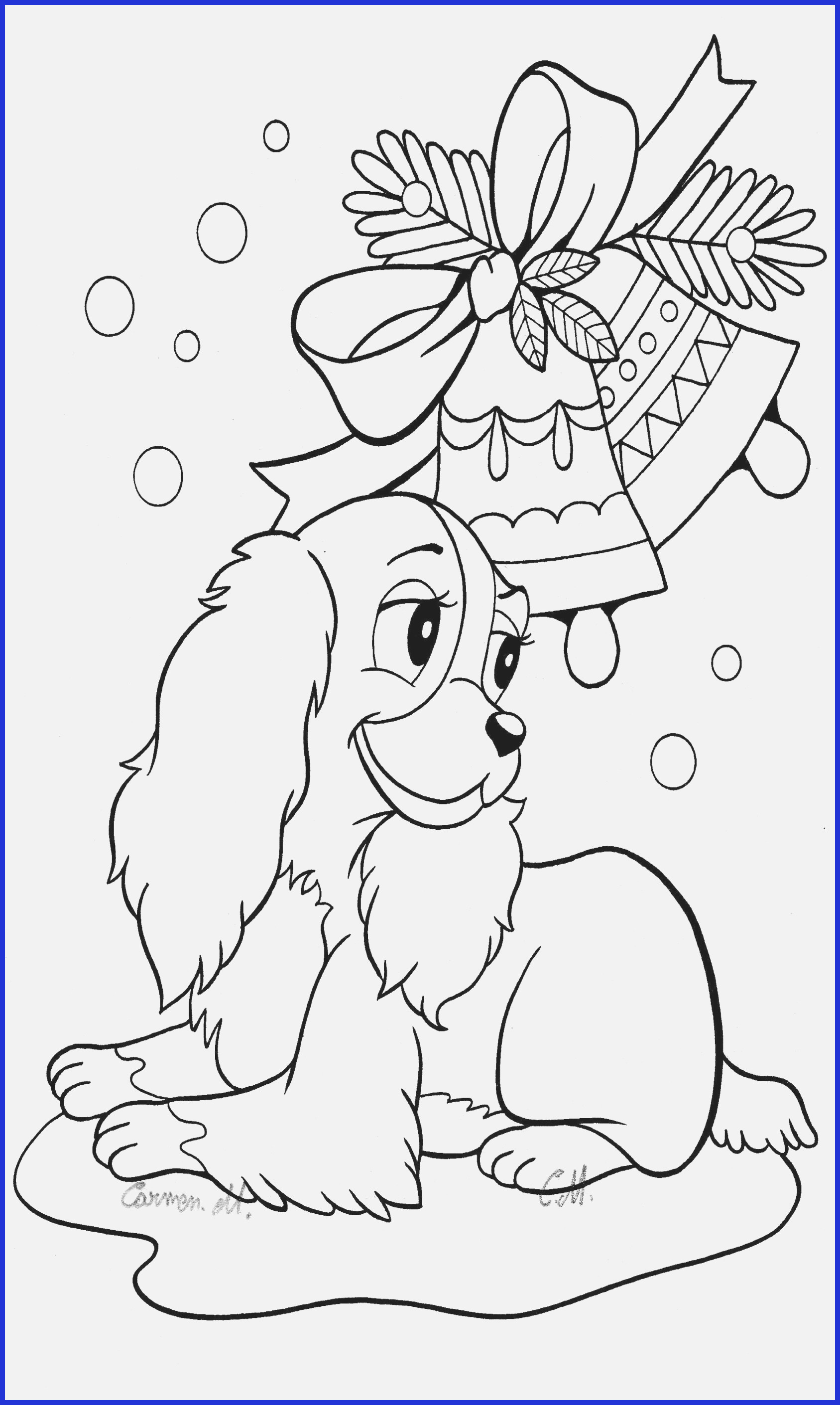 Christmas Coloring Pages Of Animals With Adult Hard Www Gsfl Info