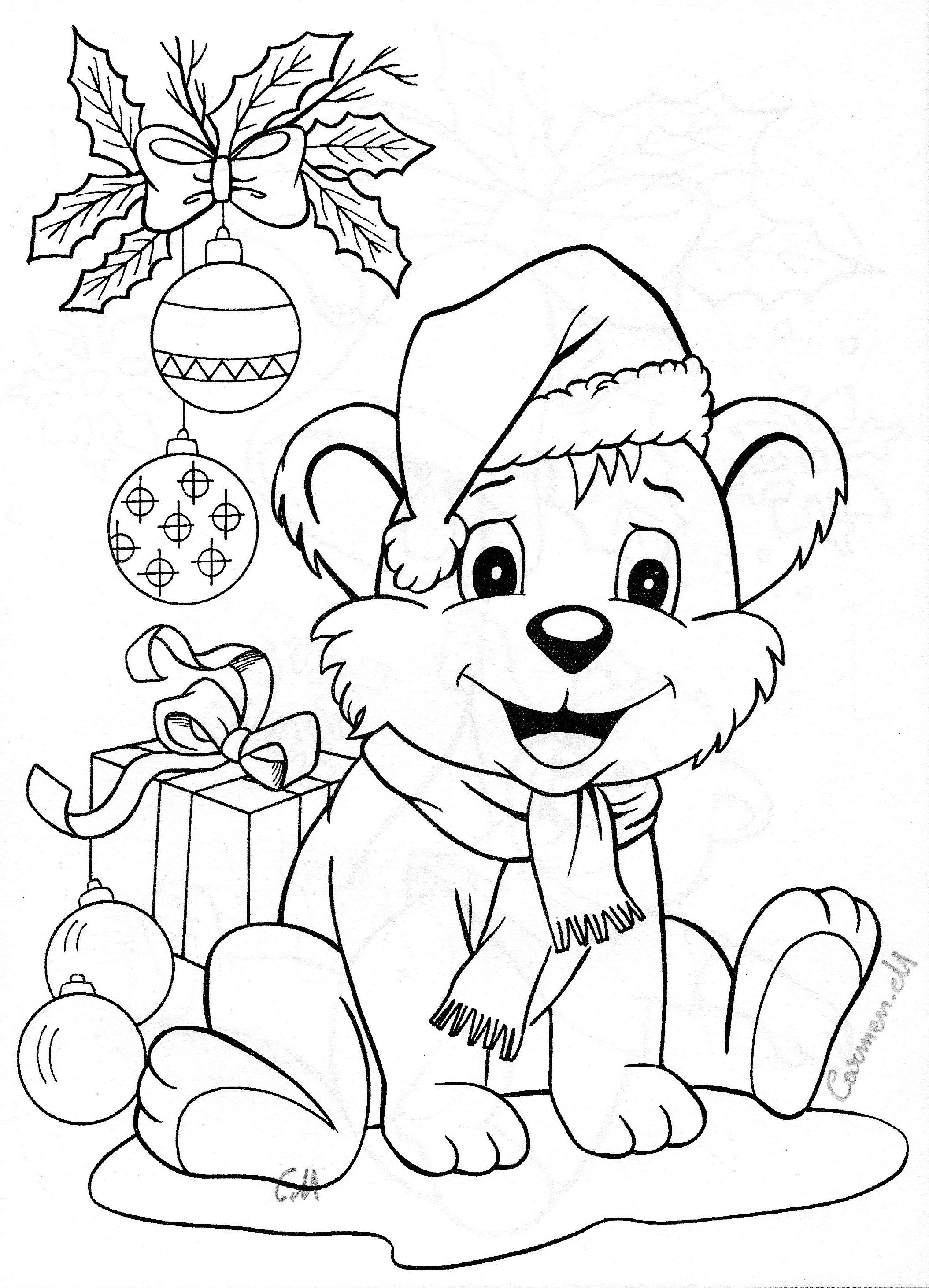 Christmas Coloring Pages Of Animals With Animal Colouring Pinterest
