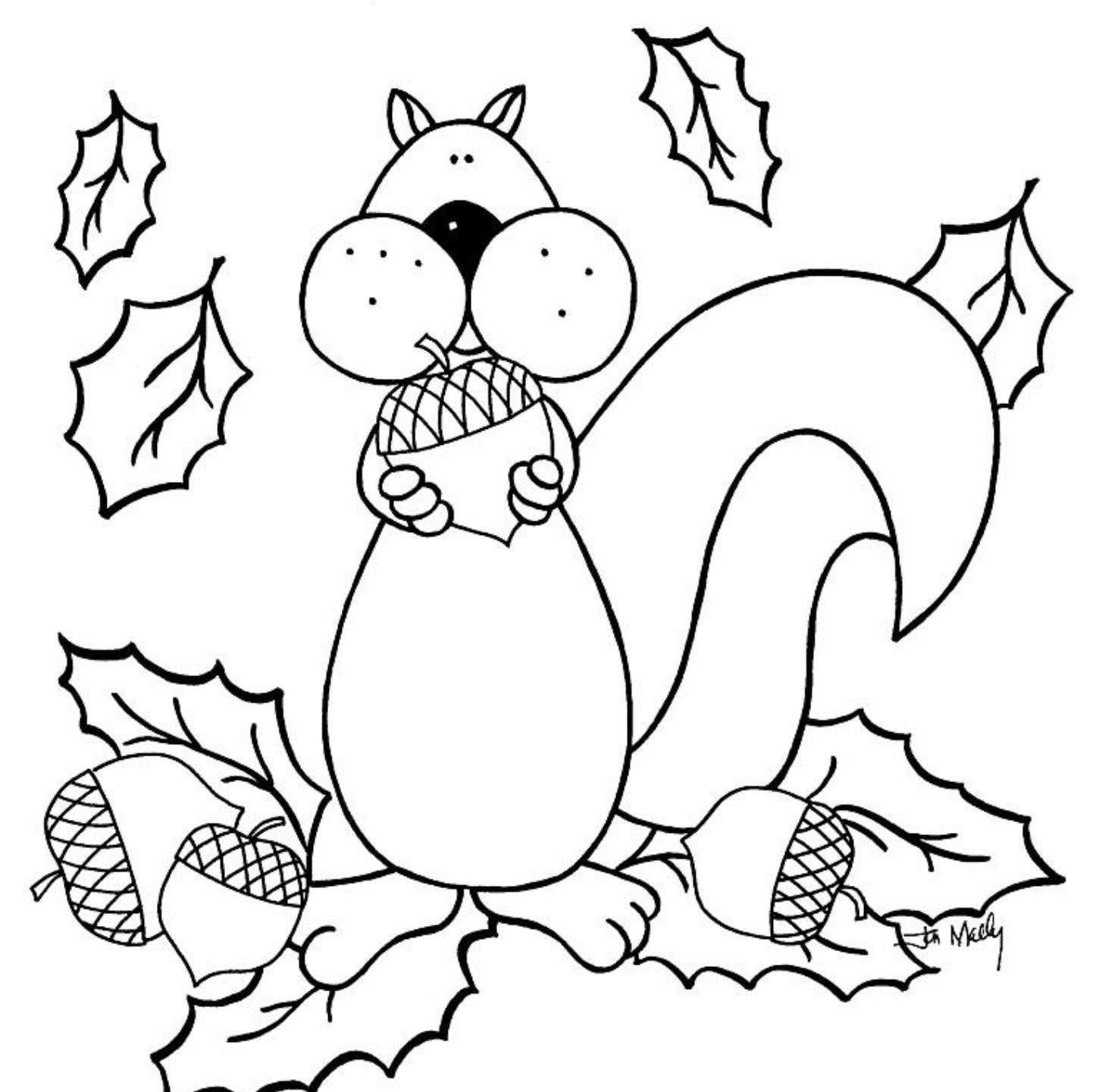 Christmas Coloring Pages Of Animals With Animal