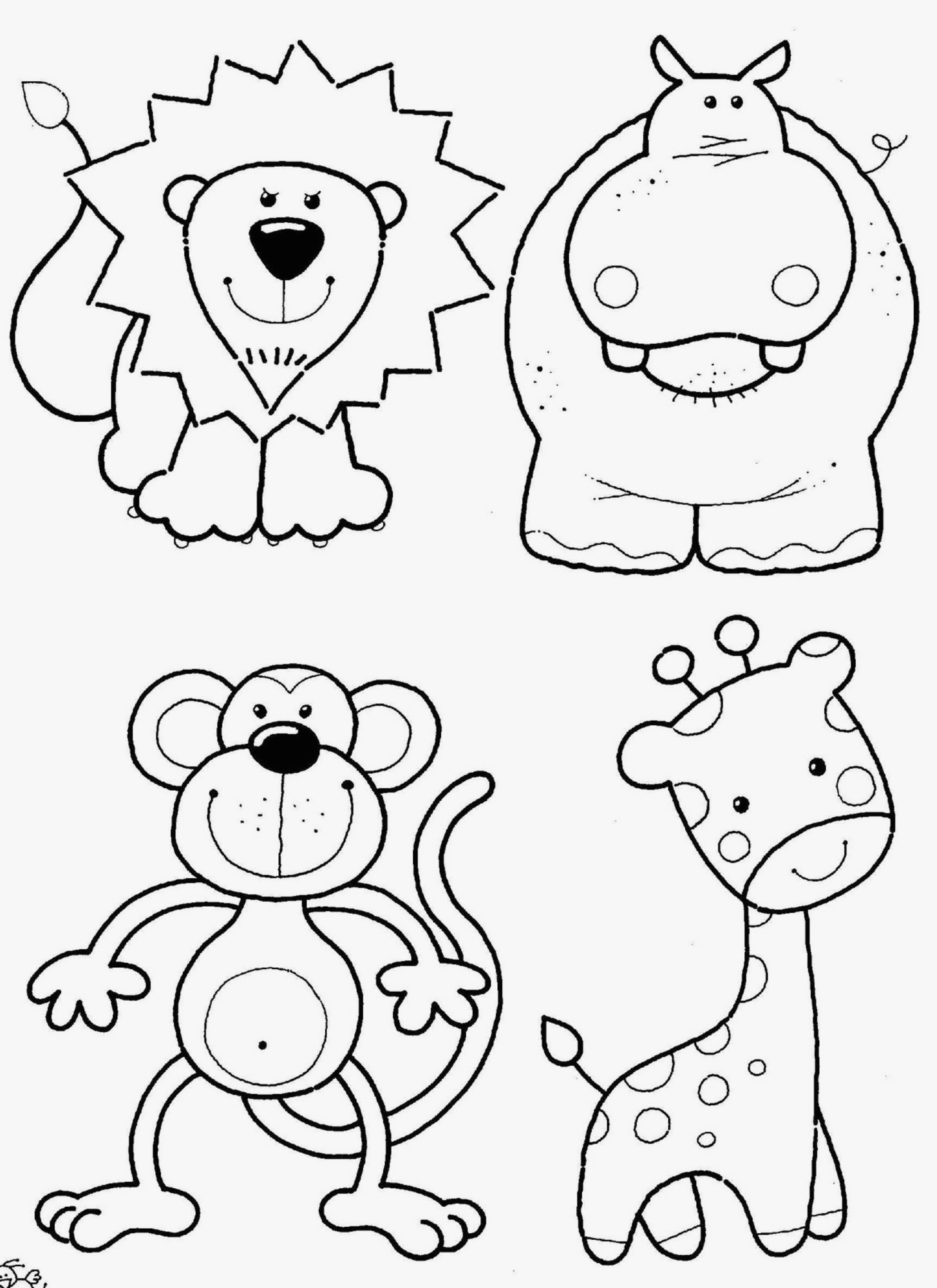 Christmas Coloring Pages Of Animals With Preschool Awesome