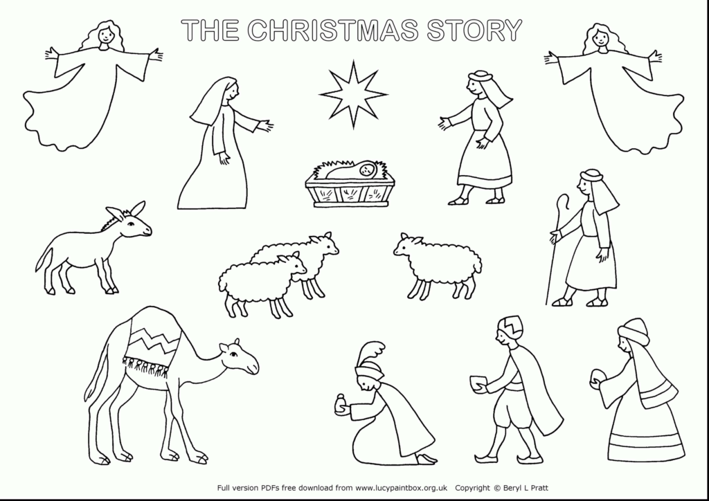 Christmas Coloring Pages Of Baby Jesus In A Manger With Free Printable Save