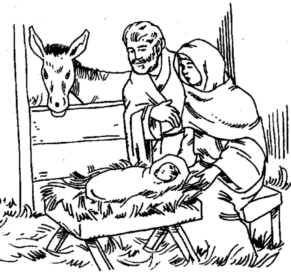 Christmas Coloring Pages Of Baby Jesus In A Manger With New Unique