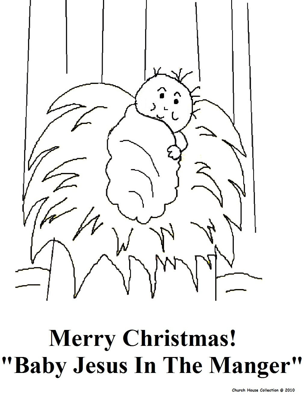 Christmas Coloring Pages Of Baby Jesus In A Manger With The Birth