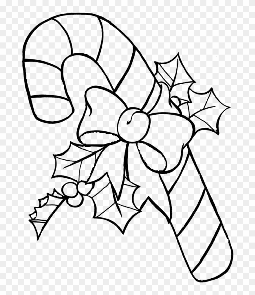 Christmas Coloring Pages Of Candy Canes With Cane
