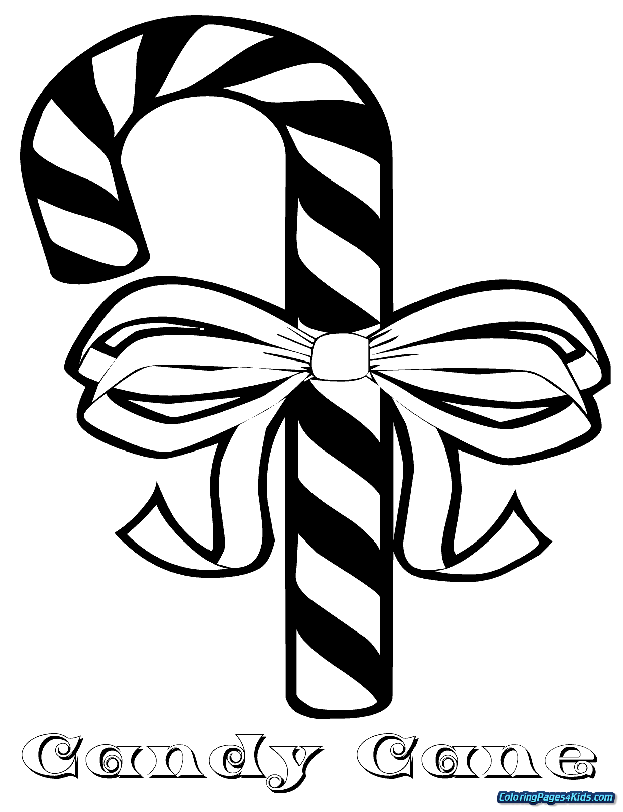 Christmas Coloring Pages Of Candy Canes With Cane Page For Kids