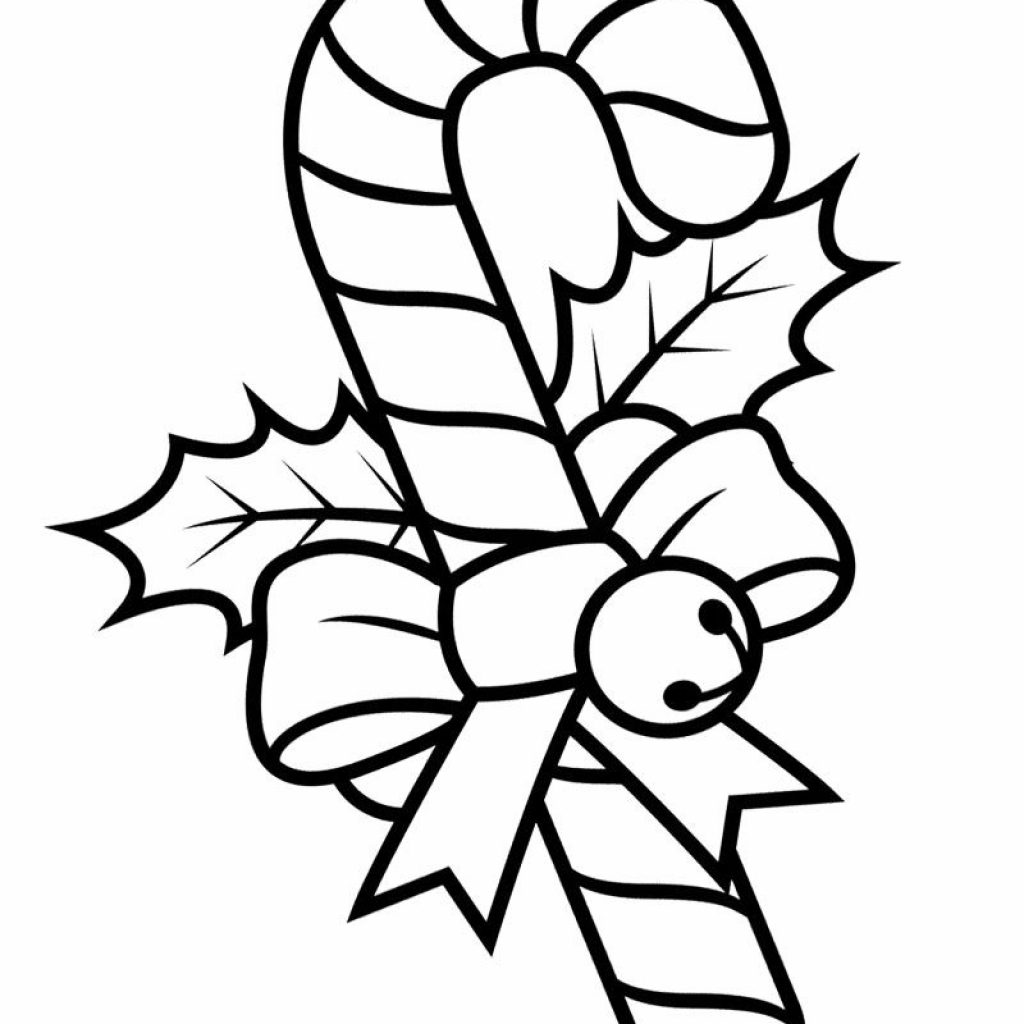 Christmas Coloring Pages Of Candy Canes With Free