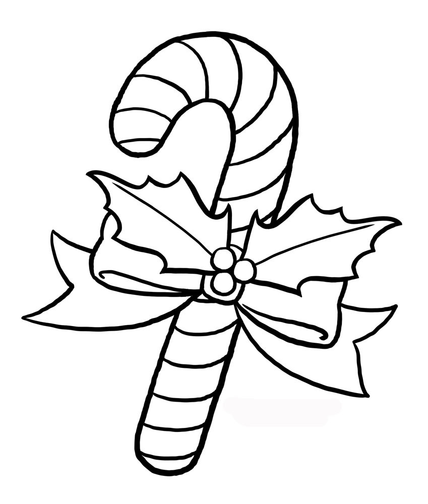 Christmas Coloring Pages Of Candy Canes With Interesting Cane Color Page Onwe