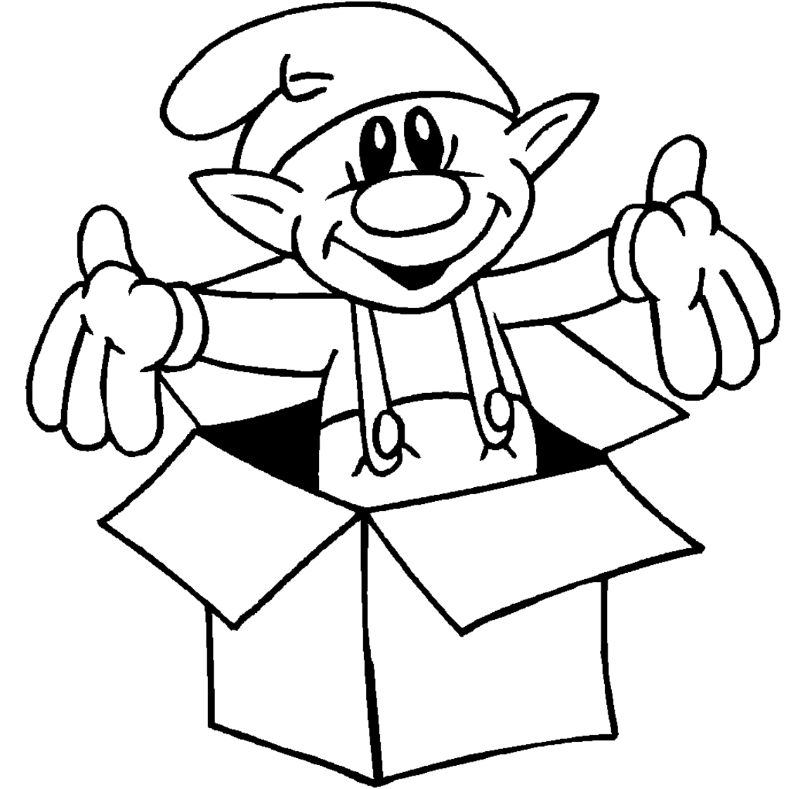 Christmas Coloring Pages Of Elves With Elf