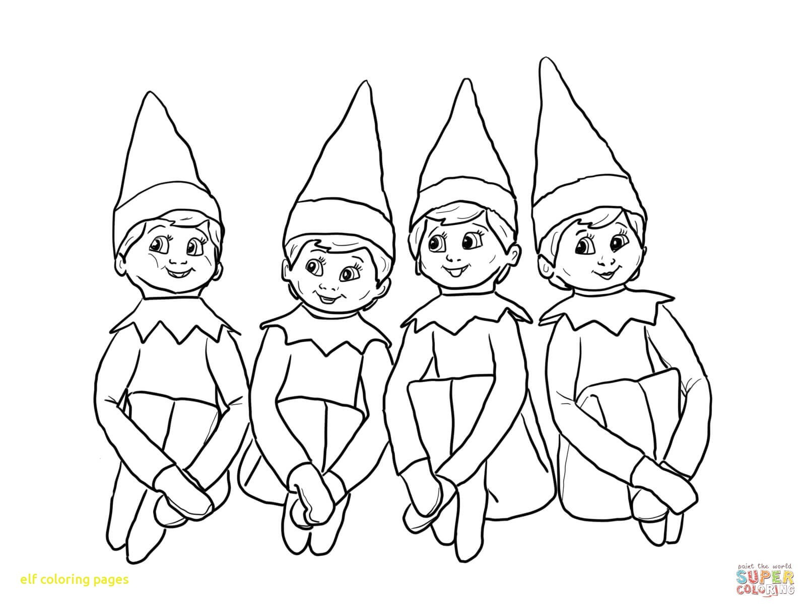 Christmas Coloring Pages Of Elves With Enormous Elf Pictures To Print Adult Free