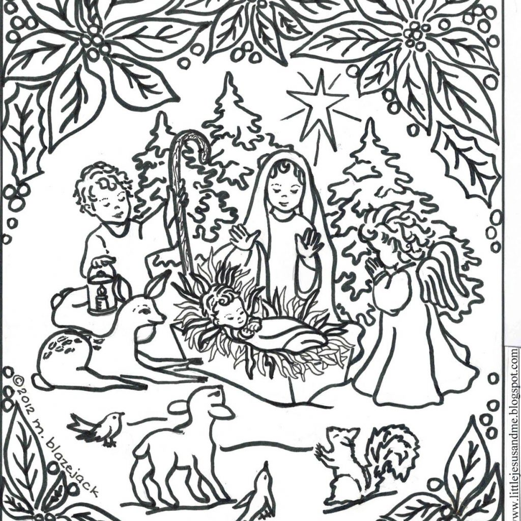 Christmas Coloring Pages Of Jesus With Pin By Nativity On Pinterest