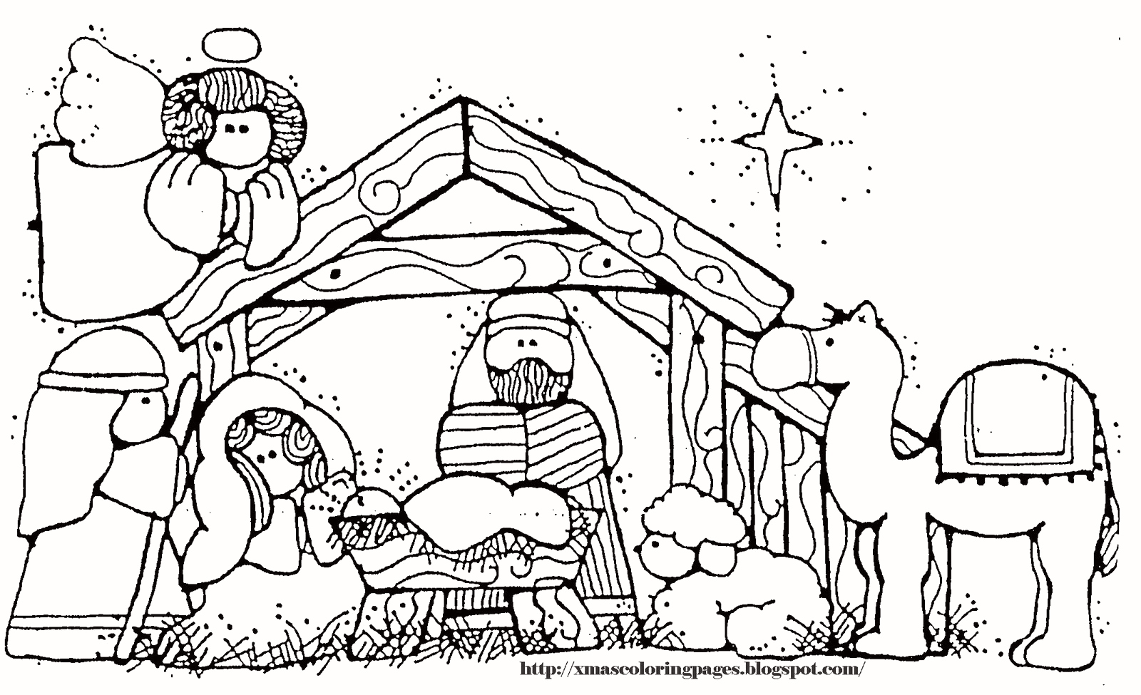 Christmas Coloring Pages Of Jesus With Printable In The Manger Chronicles