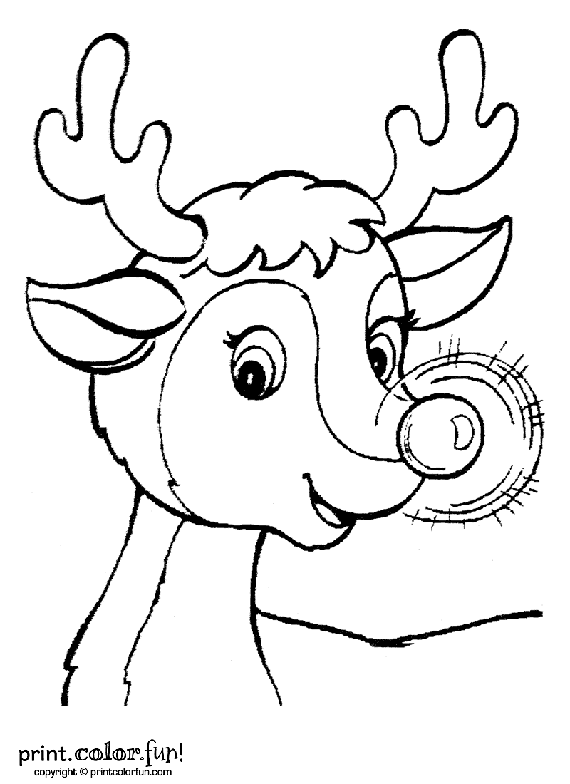Christmas Coloring Pages Of Rudolph The Red Nosed Reindeer With Crammed Page 8617 3777