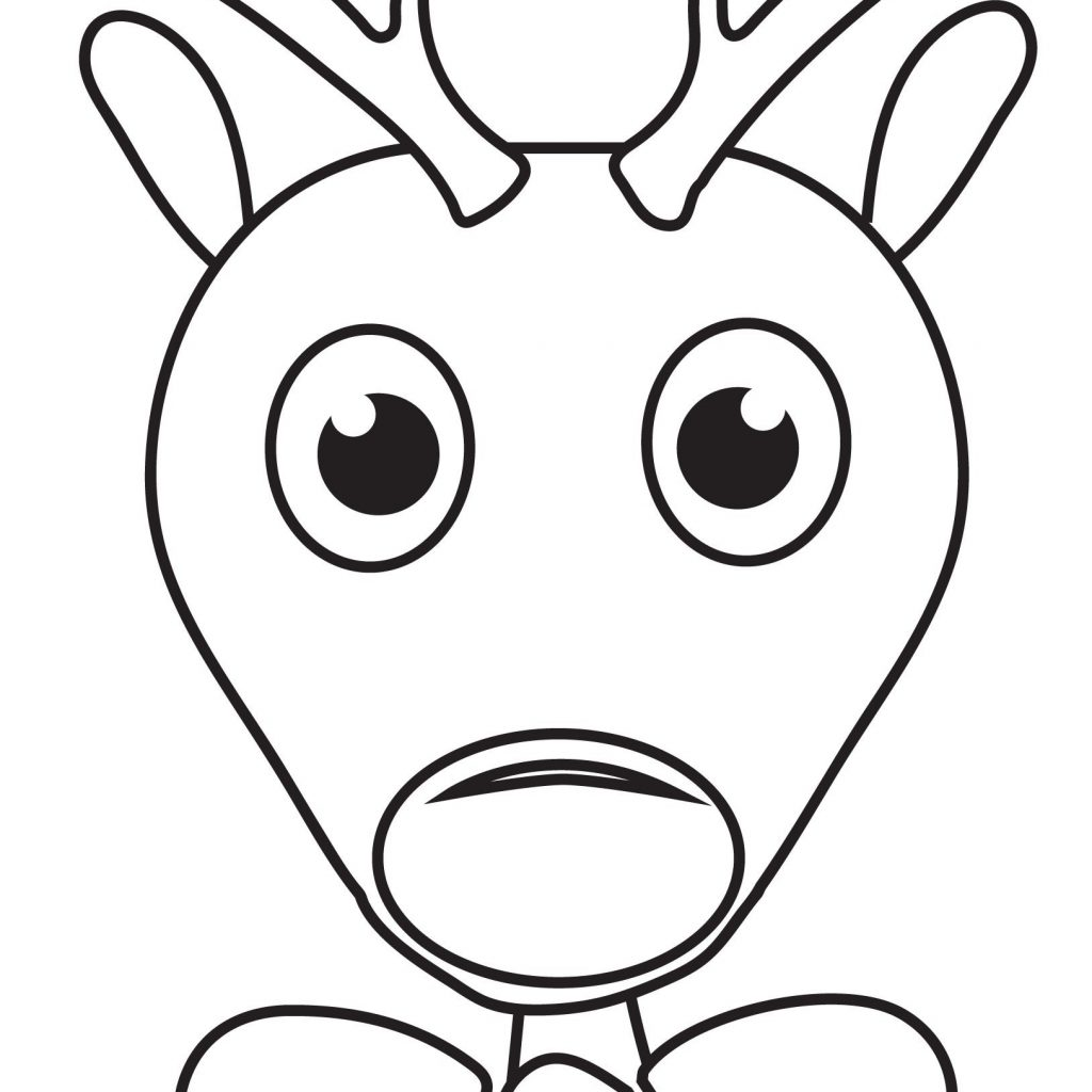 Christmas Coloring Pages Of Rudolph The Red Nosed Reindeer With Great