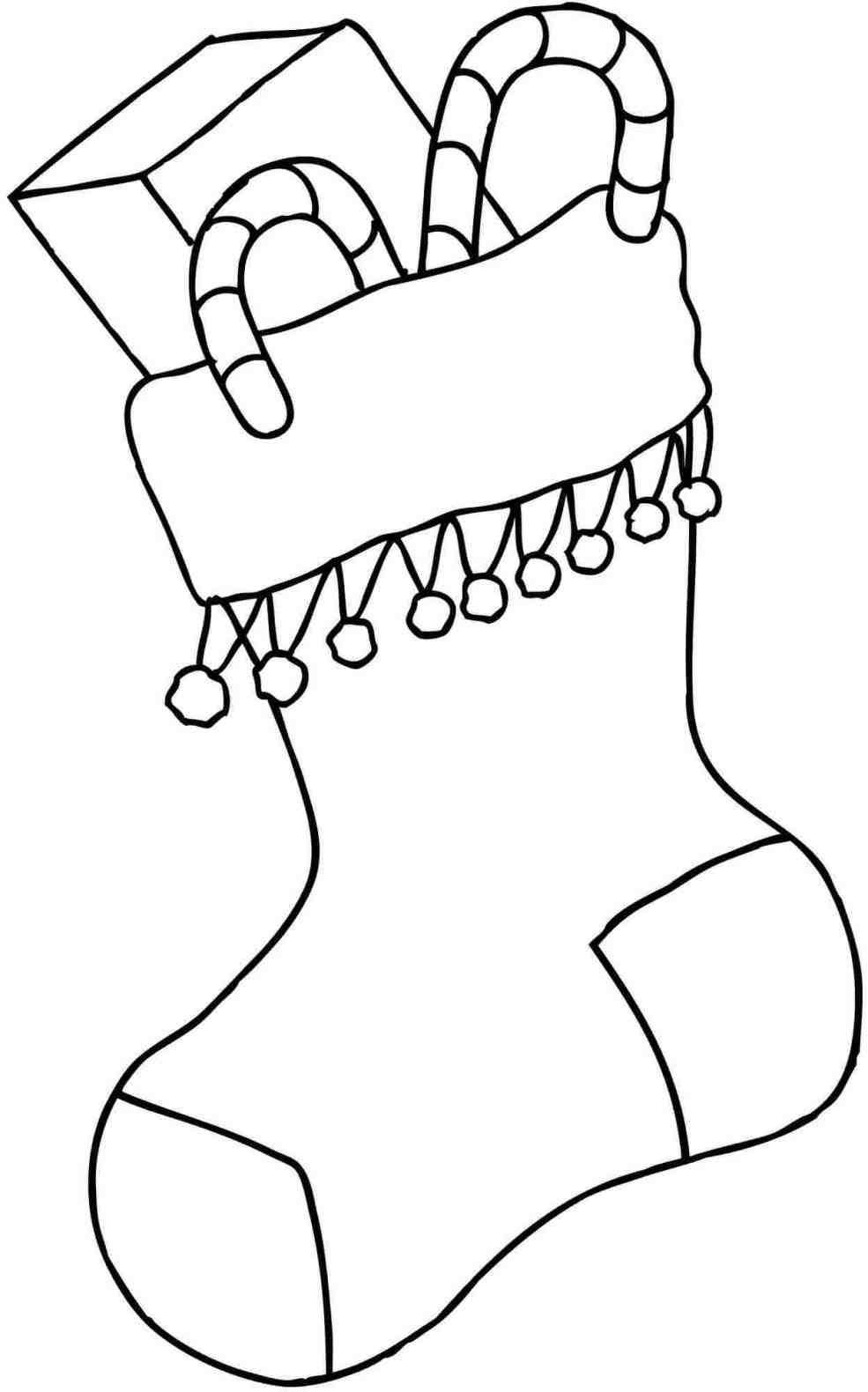 Christmas Coloring Pages Of Stockings With New Post Stocking For Adults