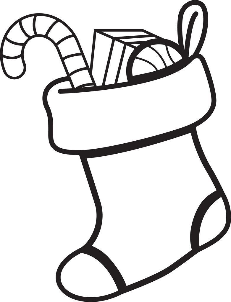 Christmas Coloring Pages Of Stockings With Printable Page How To Decorate And Stocking