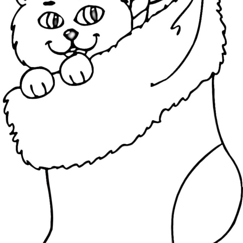 Christmas Coloring Pages Of Stockings With Stocking Page Awesome Farm Animals Cat