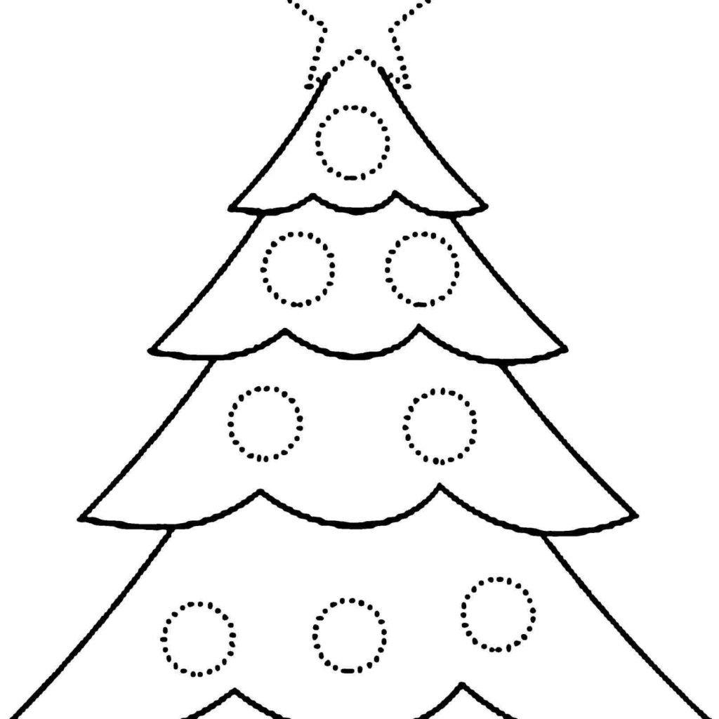 Christmas Coloring Pages Of Trees With Inspirational Free Tree Printable