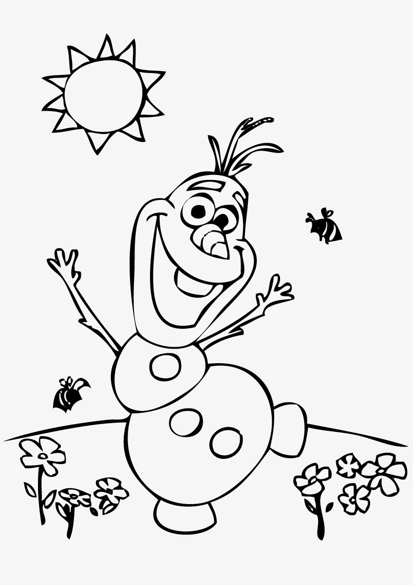 Christmas Coloring Pages Olaf With Color Sheet Zoro Creostories Co