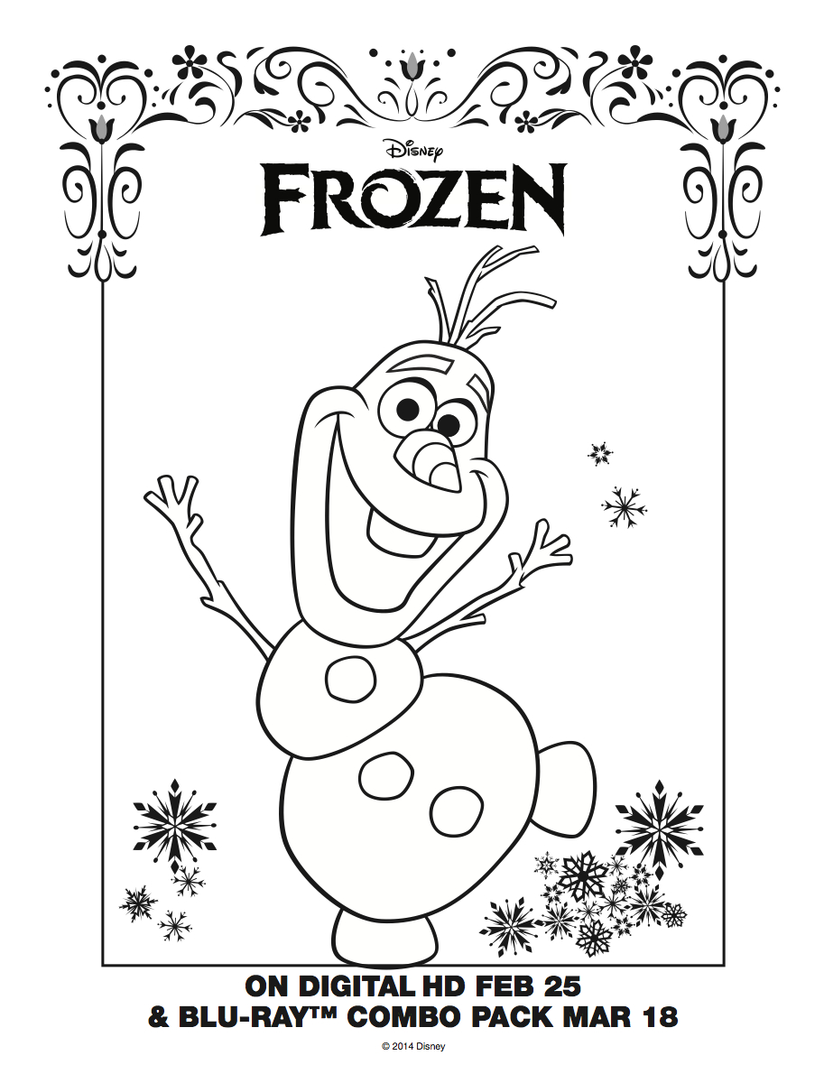 Christmas Coloring Pages Olaf With Download Thephotosync Com