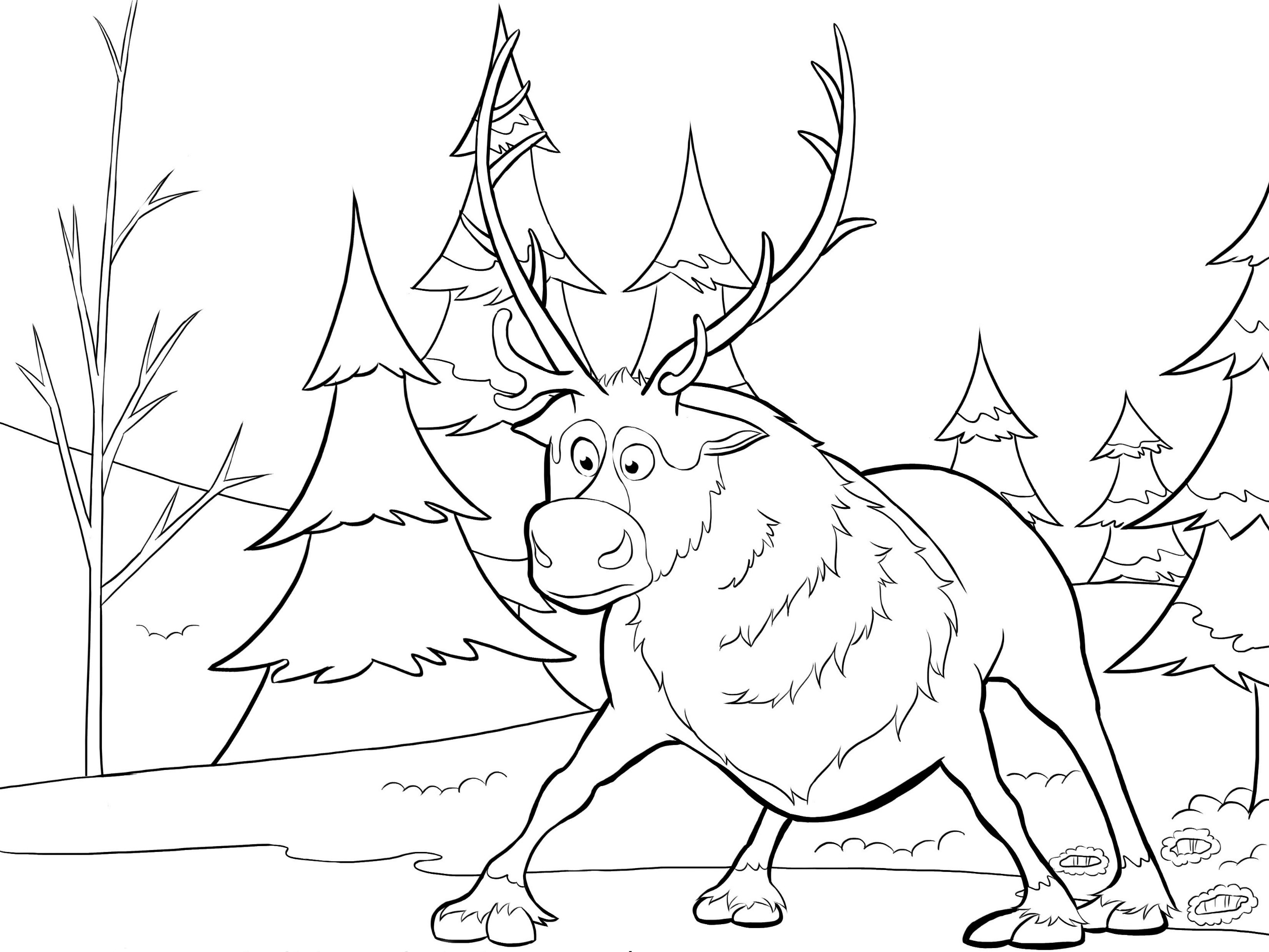Christmas Coloring Pages Olaf With