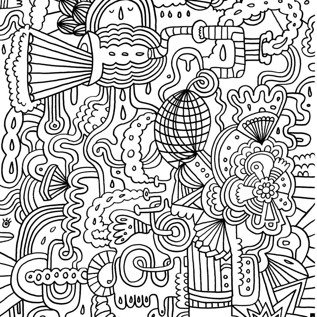 Christmas Coloring Pages Older Students With Difficult For Adults Gallery Free