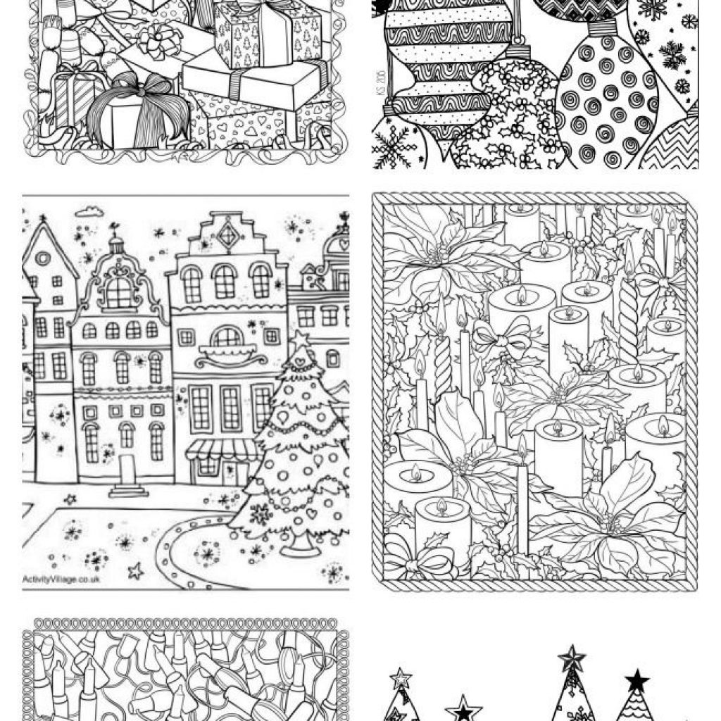 Christmas Coloring Pages Older Students With Free Adult U Create Projects To Try