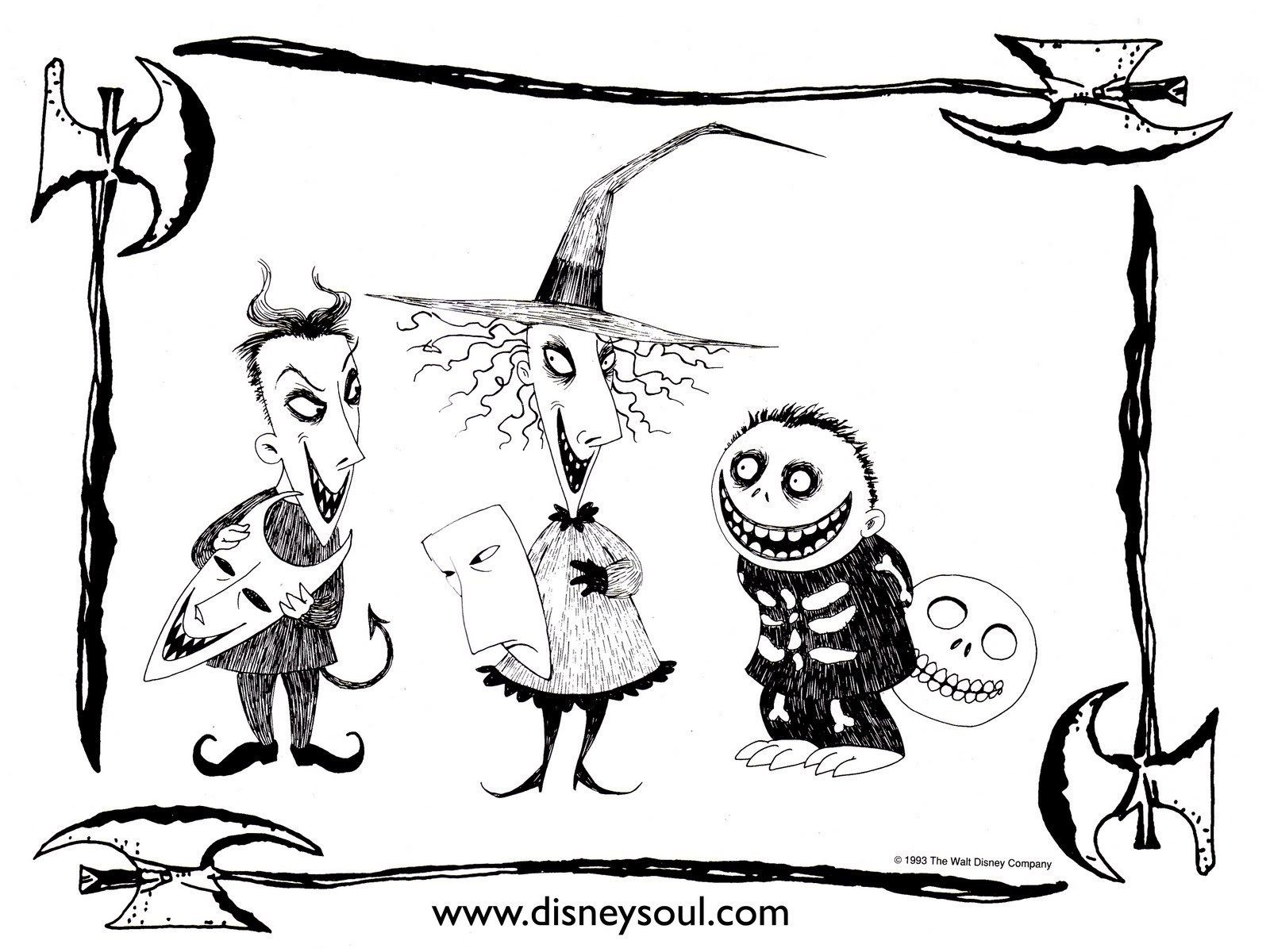 Christmas Coloring Pages On Pinterest With Nightmare Before Hocus Pocus