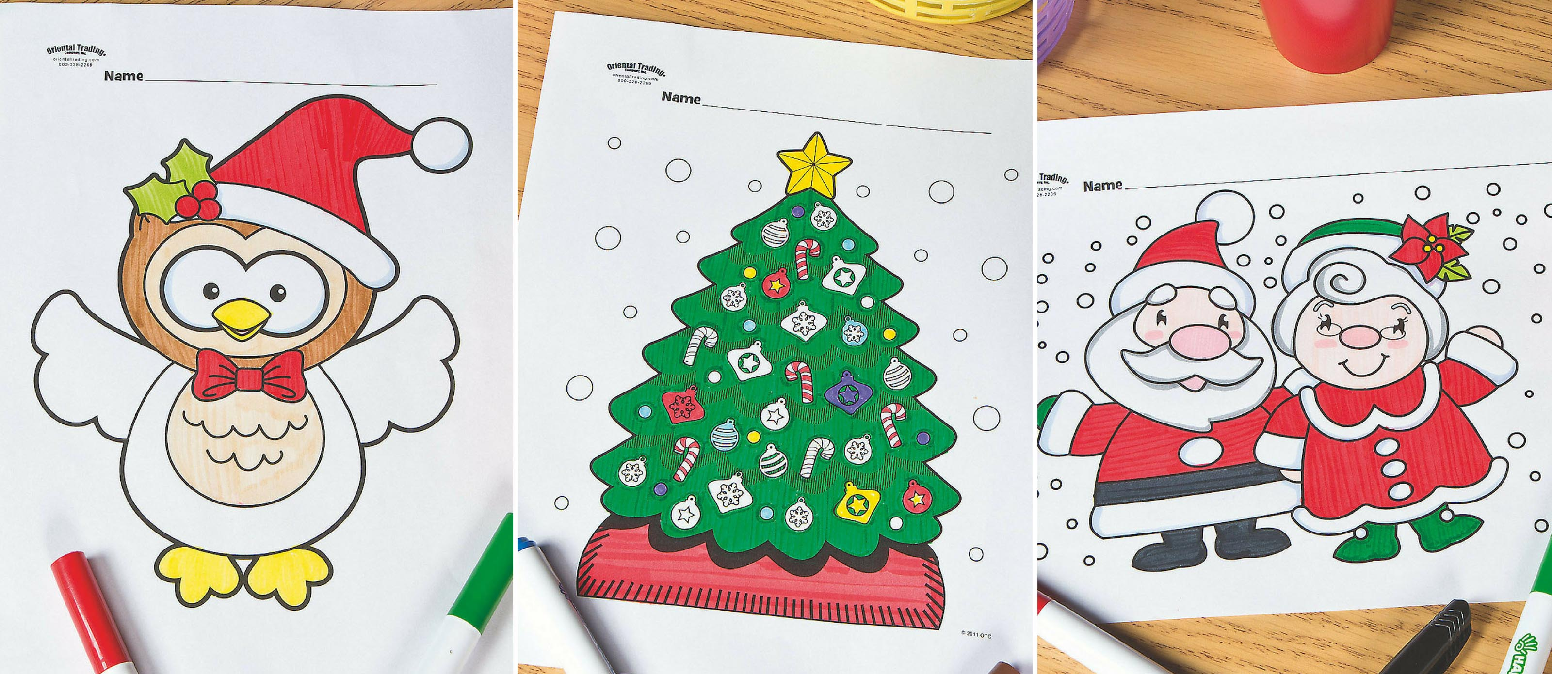 Christmas Coloring Pages Oriental Trading With Free