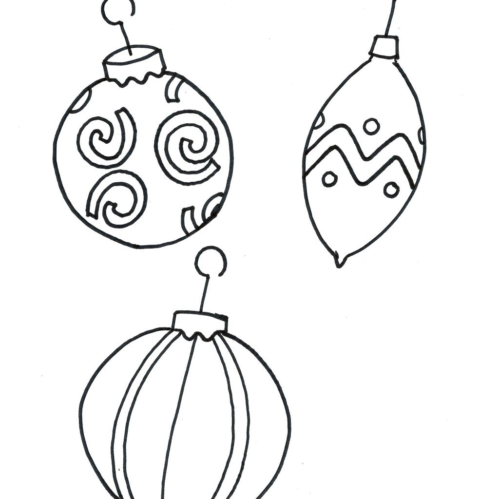 Christmas Coloring Pages Ornaments Printable With Best Of Glum Me