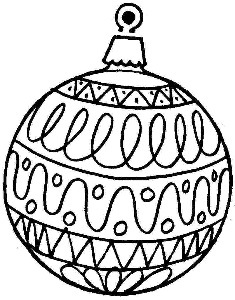Christmas Coloring Pages Ornaments Printable With Free Adults Google Search