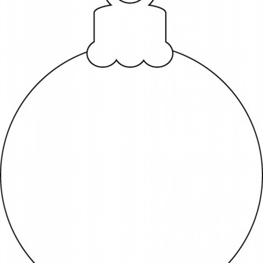 Christmas Coloring Pages Ornaments Printable With Ornament Page Free Chronicles