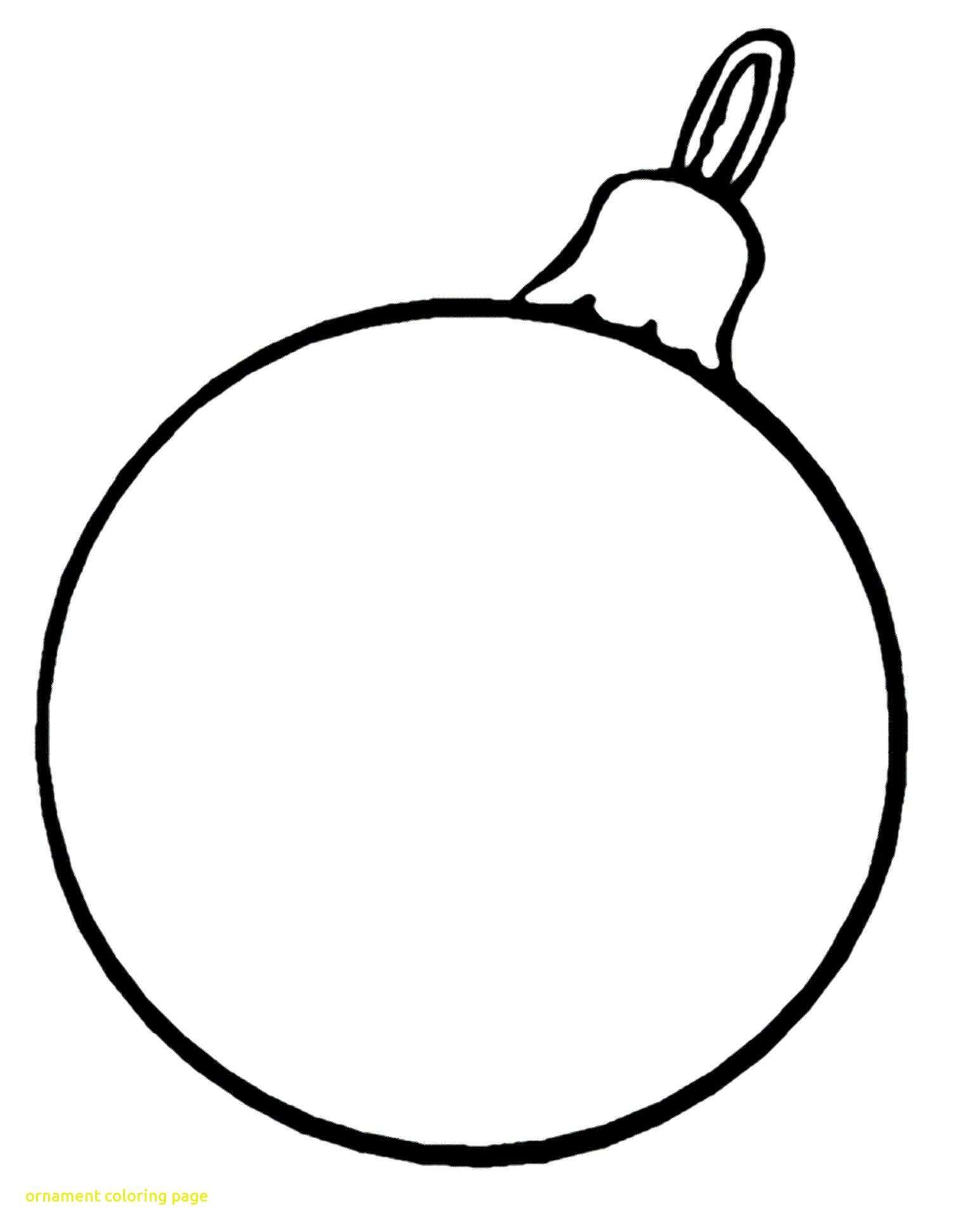 Christmas Coloring Pages Ornaments Printable With Tree Fresh