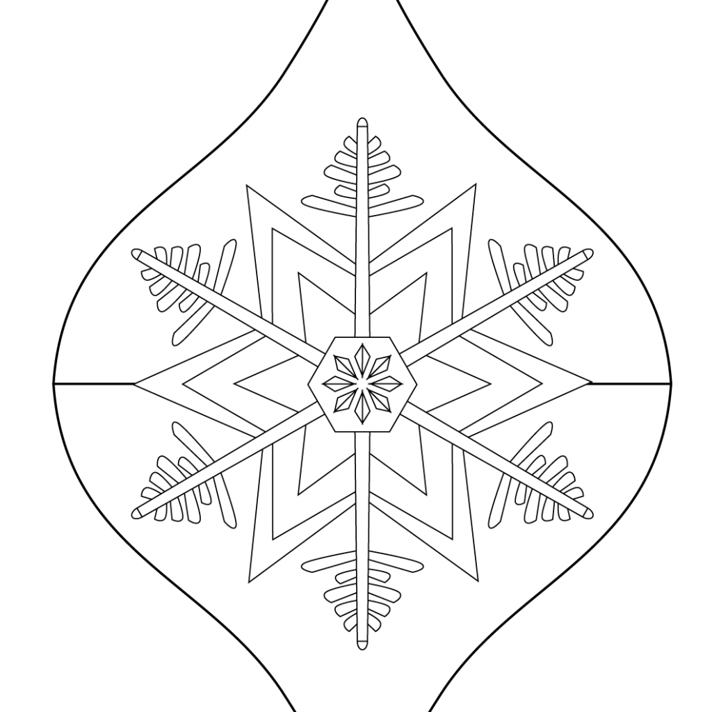 Christmas Coloring Pages Ornaments With Ornament Page Free Printable