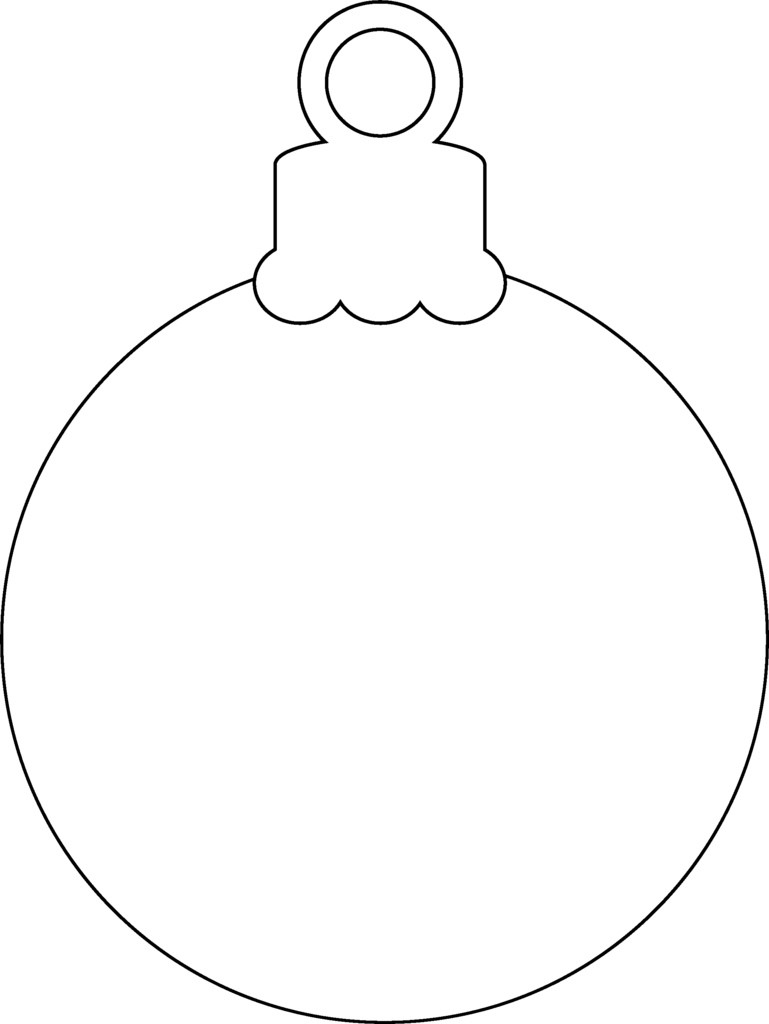 Christmas Coloring Pages Ornaments With Printable Ornament St To Print