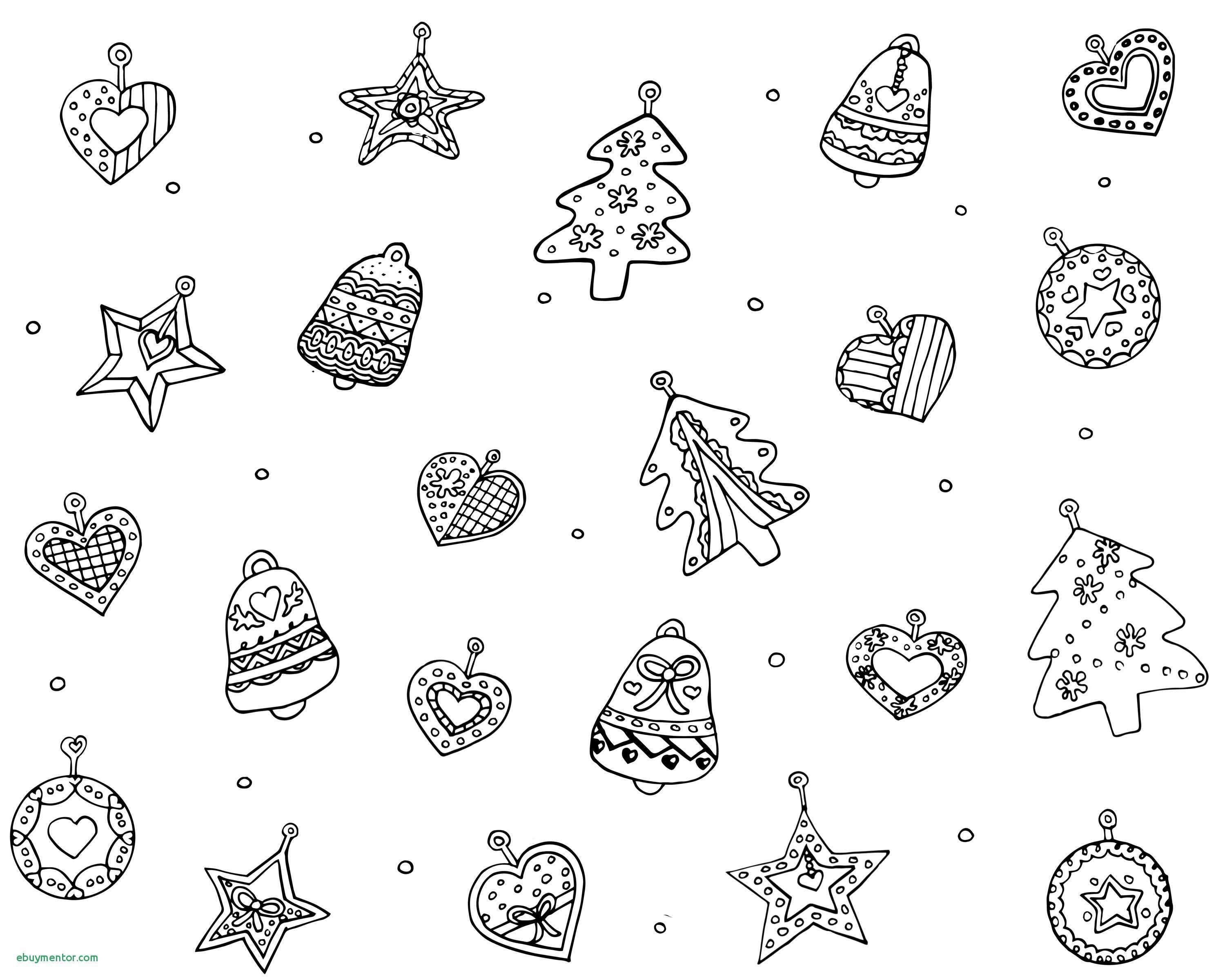 Christmas Coloring Pages Ornaments With Xmas Decorations Inspirationa Printable
