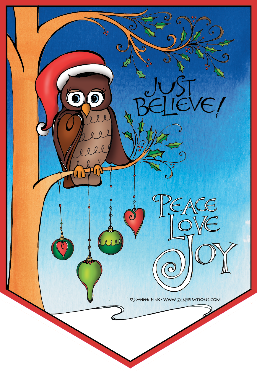 Christmas Coloring Pages Owls With Free And Happy New Year