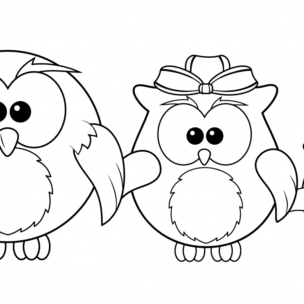 Christmas Coloring Pages Owls With Owl Family Page Free Printable