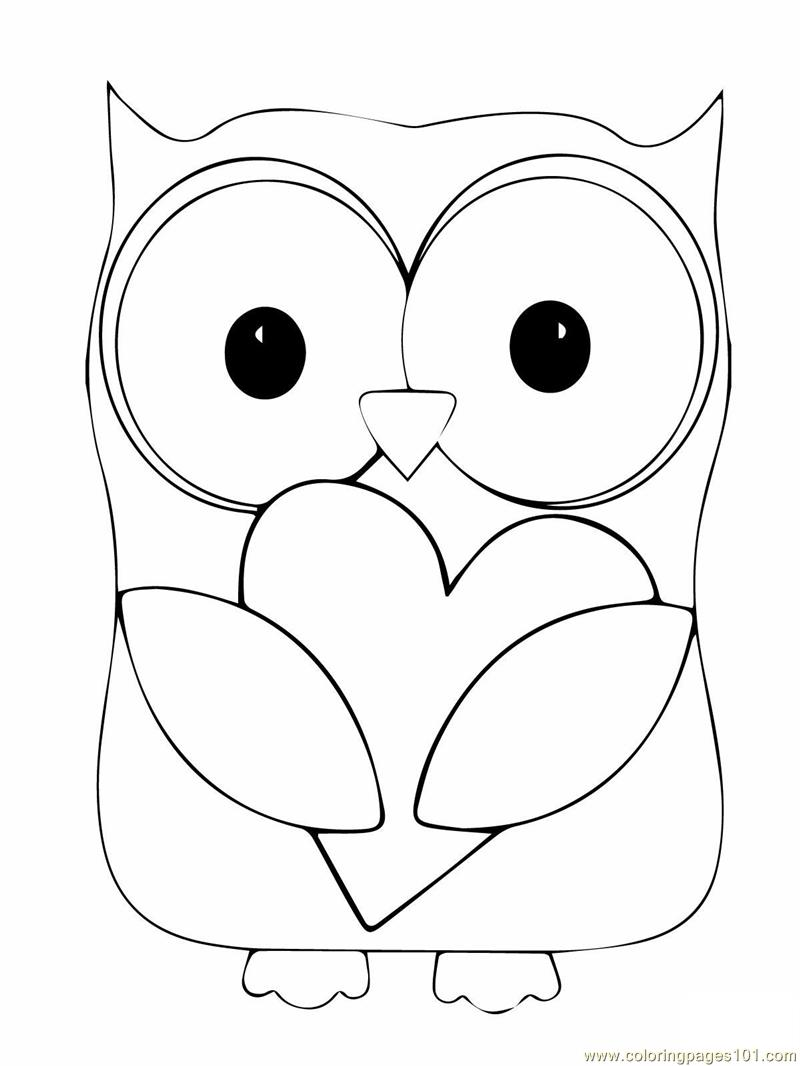 Christmas Coloring Pages Owls With Owl Free Library
