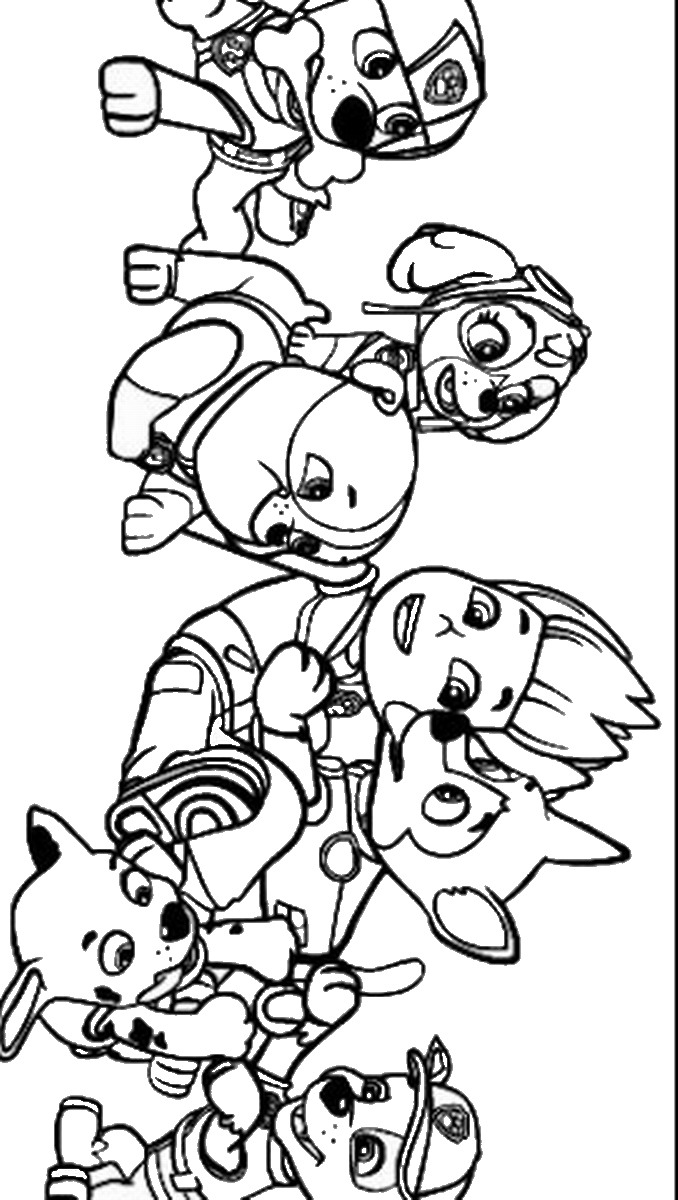 Christmas Coloring Pages Paw Patrol With Awesome Free Book