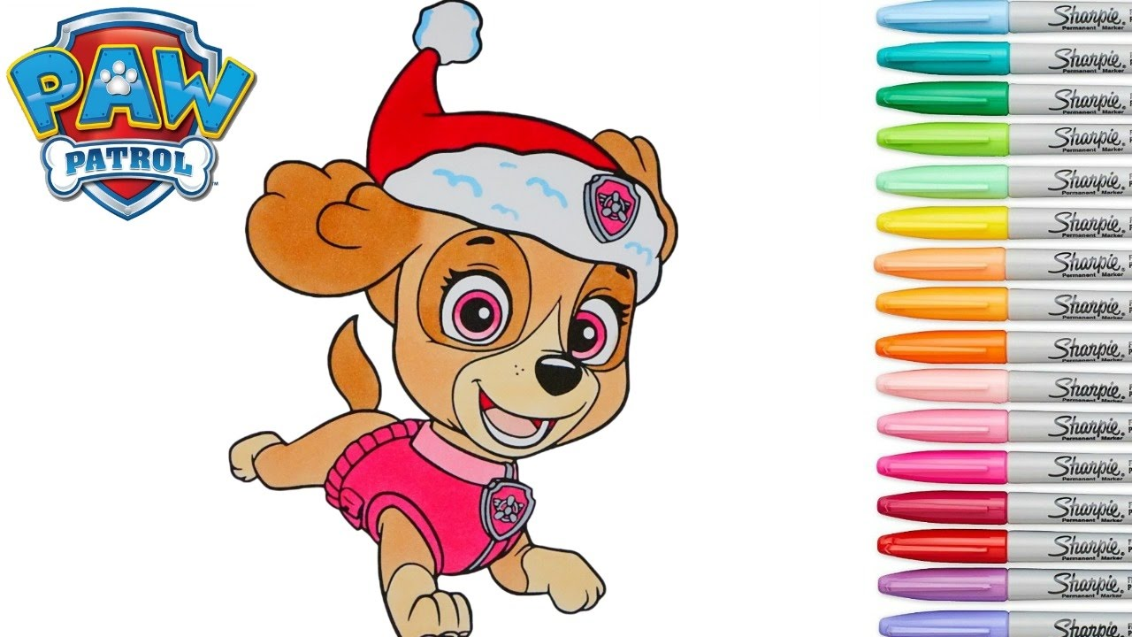 Christmas Coloring Pages Paw Patrol With Book Skye Episode Colouring